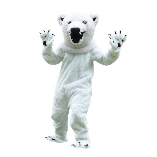 Polar bear bear mascot costume Adult Polar Bear Mascot