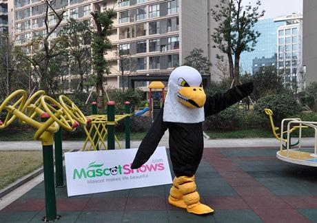 New Version Eagle Mascot Adult Costume Halloween Long Plush Eagle Mascot Costumes Cartoon fashion-paradise