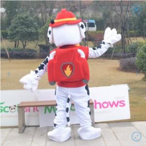 Paw Patrol  Mascot Costume Adult Marshall Unisex Cartoon Character Mascot Costume Custom Made / Mascotshows
